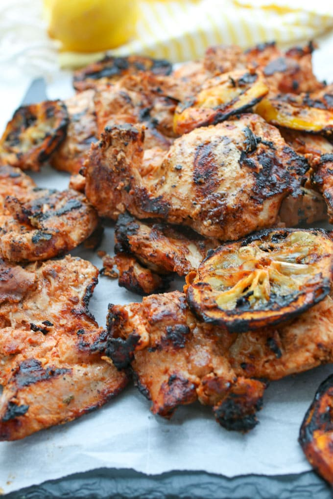 Grilled aleppo pepper chicken