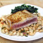 Peruvian Style White Beans with Marinated Seared Tuna