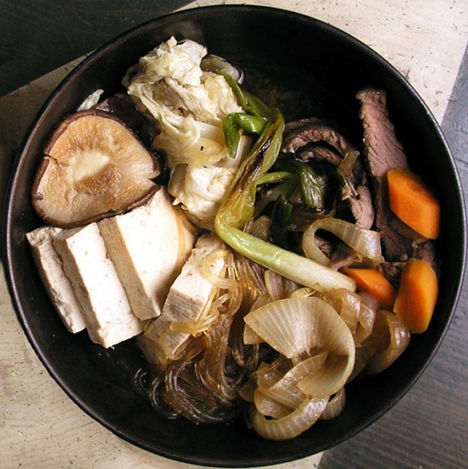 Recipe for Japanese Sukiyaki - Panning The Globe