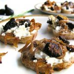 Goat Cheese, Caramelized Onion & Fig Bruschetta