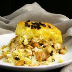 PERSIAN LAYERED CHICKEN AND RICE WITH YOGURT (Tachin Joojeh)