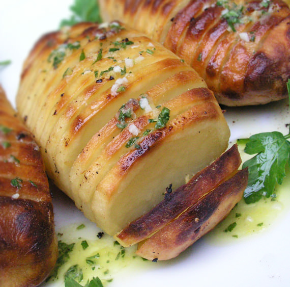 Photo of Hasselback potatoes