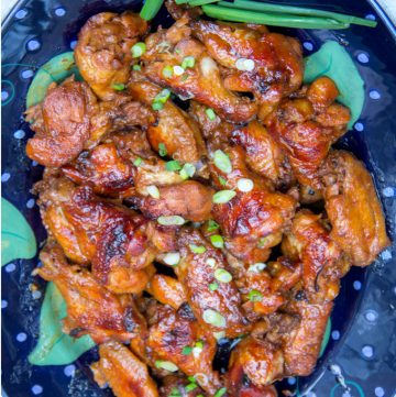 This Lime Apricot Chicken Wings are tender and glazed, with that irresistible tangy, sweet and spicy flavor harmony that everyone loves. The recipe is easy and great for feeding a crowd - ten minutes of prep, into the oven and you've got amazing Asian-style wings that will disappear quickly!