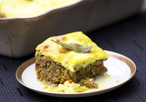 Recipe for South African meat pie called Bobotie