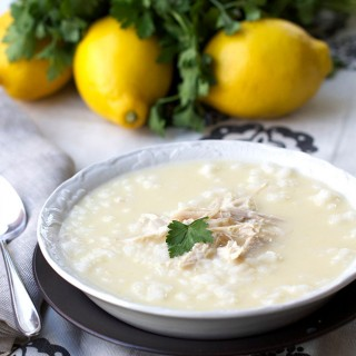 Greek Lemon Rice Soup with Chicken: delicious, dairy free, gluten free | Panning The Globe