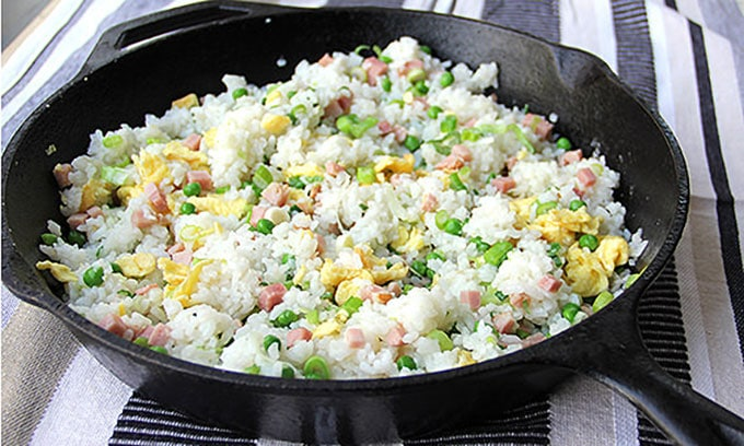 Chinese Ham and Egg Fried Rice | Panning The Globe