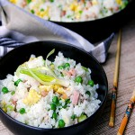 CHINESE HAM AND EGG FRIED RICE