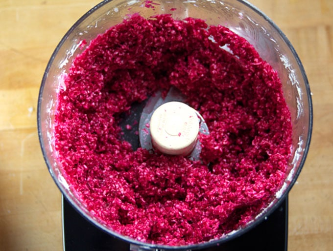 Fresh Horseradish with Beets - a delicious zesty condiment - by Panning The Globe