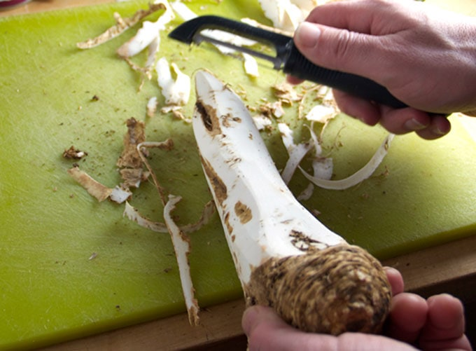 how to prepare fresh horseradish