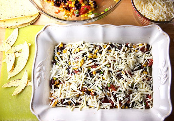 Sometimes you want to pull a great meal together fast. This Tex-Mex tortilla casserole is my go-to quick, easy, one-pot dinner recipe. It's vegetarian, gluten-free, totally delicious, and you probably have most, if not all, of the ingredients in house. Everyone needs a recipe like this in the repertoire.
