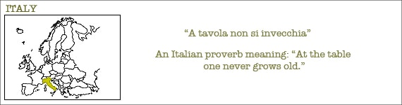 Proverb about Italian food