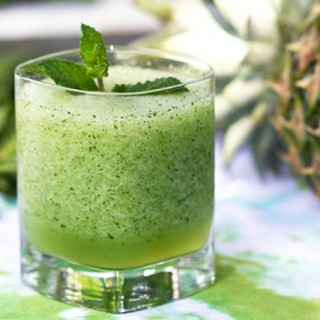 This frozen mojito is fun, festive, frothy, and refreshing. Make it ahead of time - it will get extra frosty in the freezer. Then scoop into glasses and enjoy. It's a fabulous cocktail for summer barbecues.