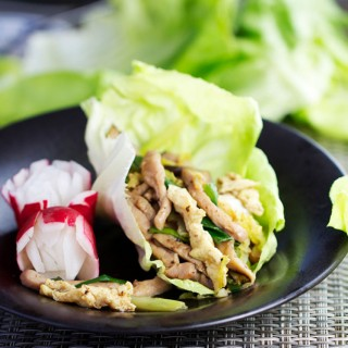Moo Shu Pork Lettuce Wraps - Panning The Globe