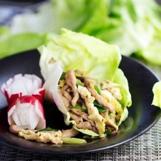 Moo Shu Pork Lettuce Wraps - Panning The Globe