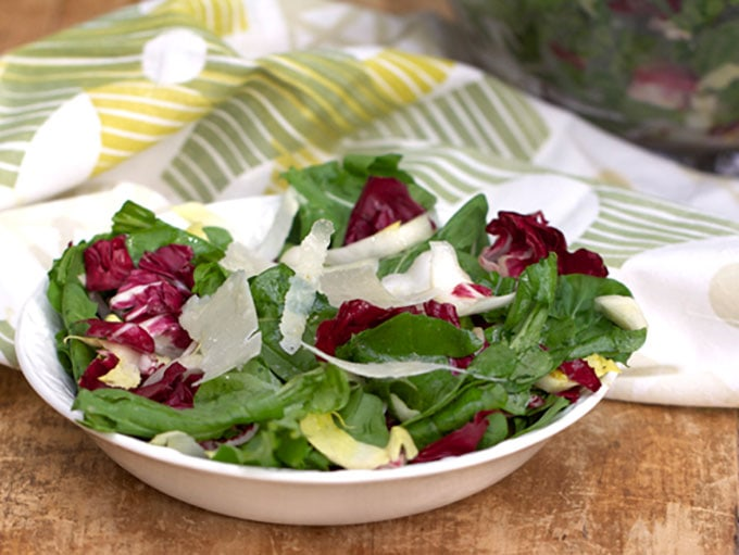 Tricolore Salad Of Endive, Beet, And Arugula, Pantzaria Salata