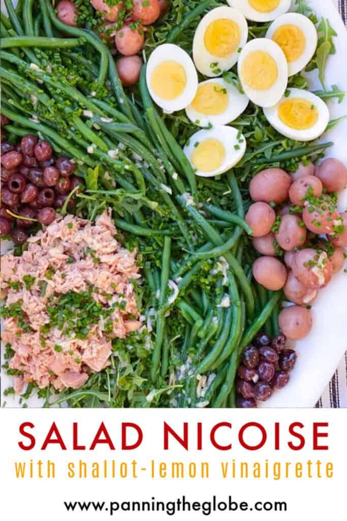 Pinterest Pin: Tuna Salad Nicoise