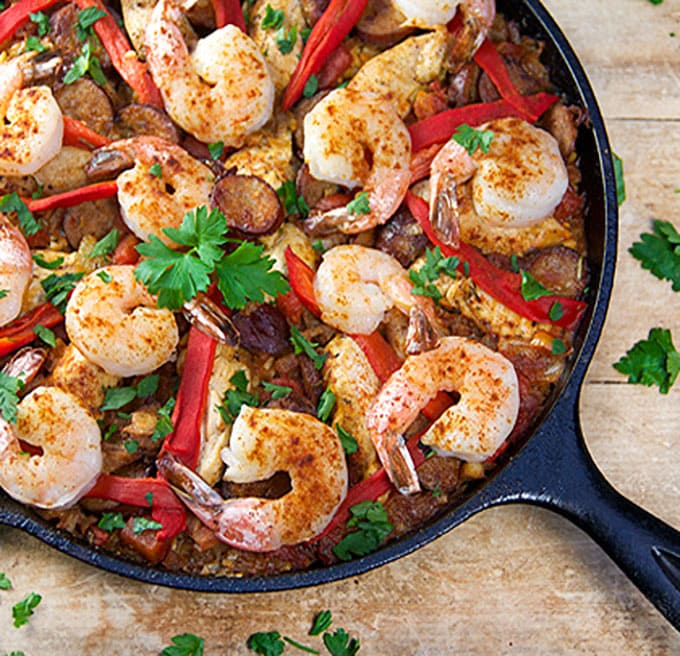 You don't need lots of time or a special pan to make delicious Spanish Paella