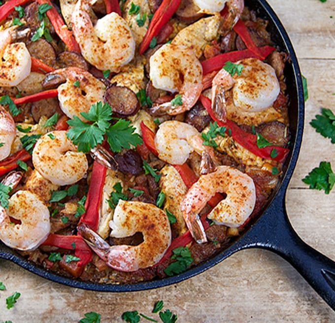 Easy Spanish paella