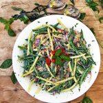 Three Bean Salad with Creamy Lemon Dressing