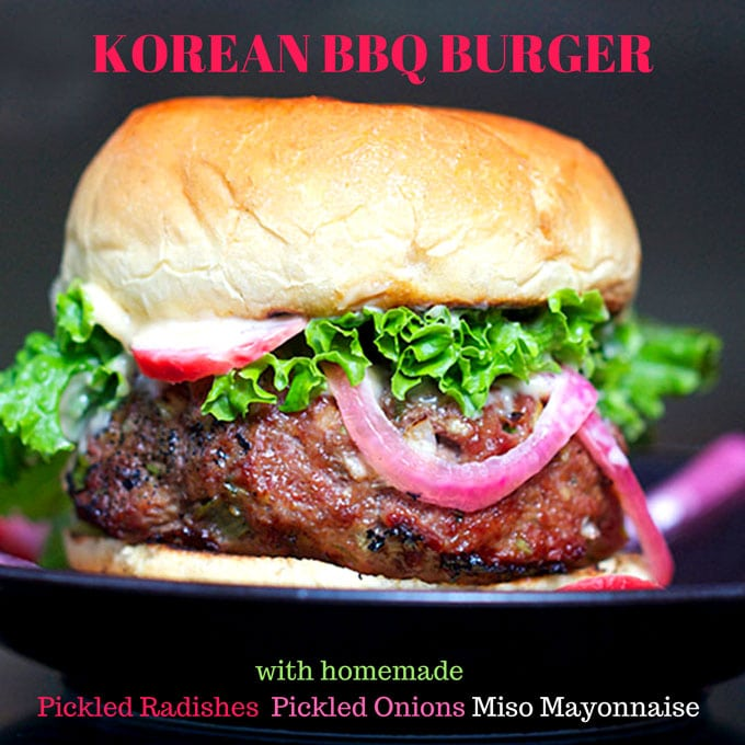 These Korean BBQ burgers are the hamburger version of Korea's famously delicious bulgogi beef. Once you try this recipe, you may never make burgers any other way.
