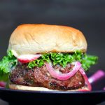 Korean BBQ Burgers with Pickled Radishes, Onions, and Miso Mayonnaise