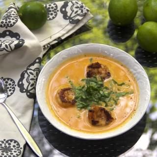 Coconut sweet potato soup from Vanuatu