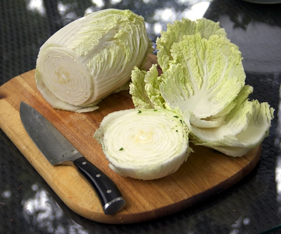 How to trim Napa cabbage