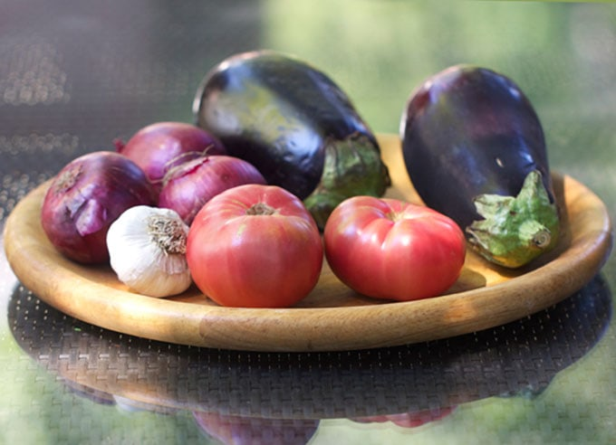 Roasted Eggplant Appetizer recipe by Panning The Globe