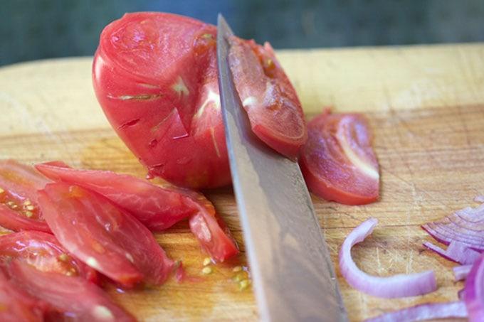 eggplantdipslicingstomatoesweb