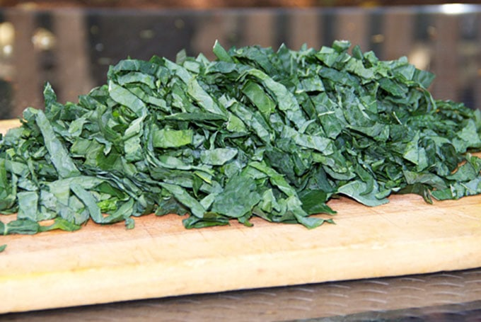 shredded lacinato kale