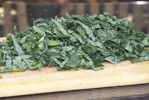 kale for Caldo Verde