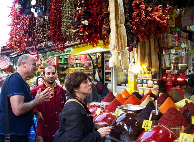 Istanbul market with Barbara Lynch and Ihsan Gurdall