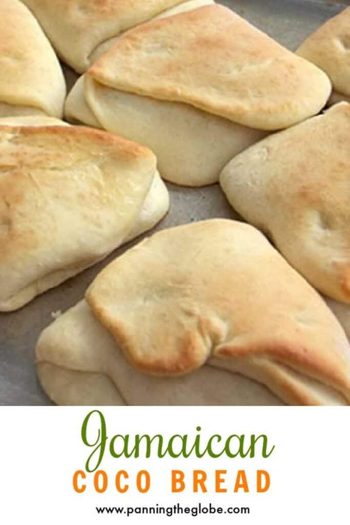pinterest pin: Jamaican coco bread