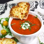 OVEN GRILLED CHEESE AND TOMATO SOUP