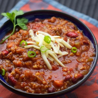 "My Favorite Vegetarian Chili: loaded with vegetables, beans and a secret ingredient that makes it ""meaty"" 