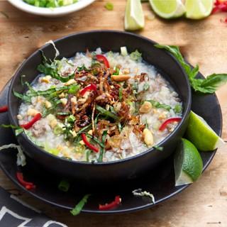 Cambodian Pork Rice Soup | Panning The Globe