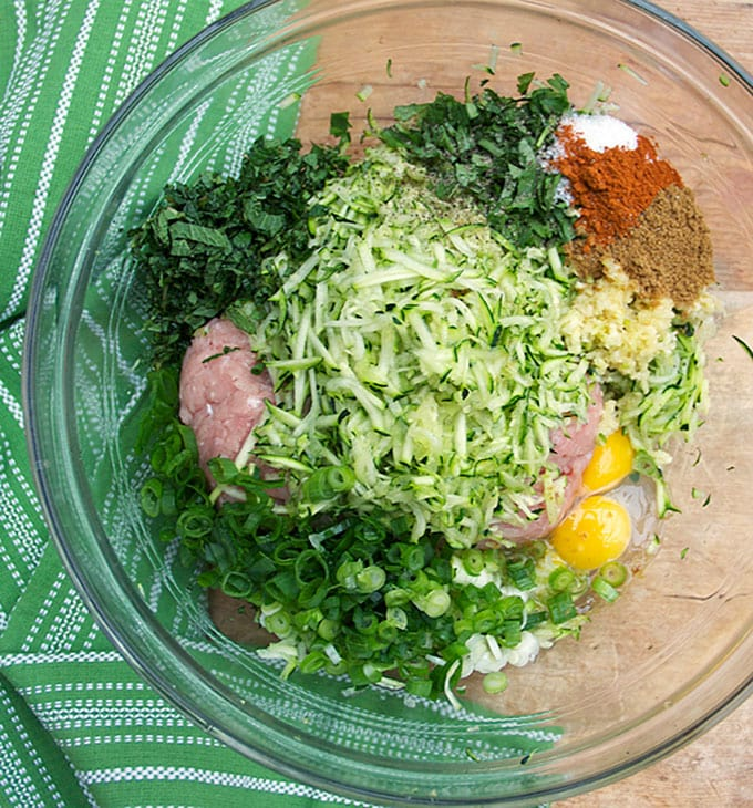 Ingredients for Turkey Zucchini Meatballs