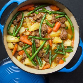 Lamb Stew with Spring Vegetables by Panning The Globe