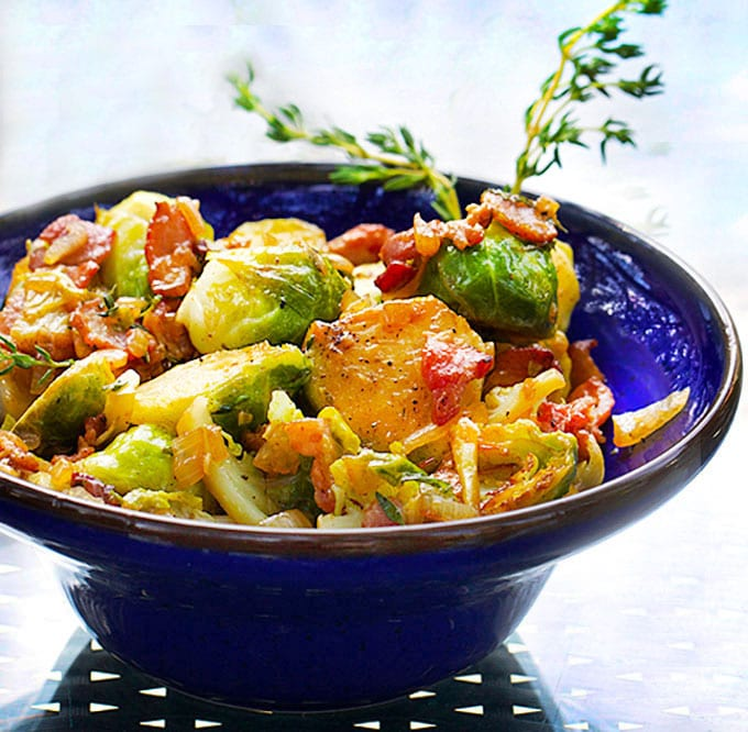 Skillet Brussels Sprouts with Bacon and Sherry: A Great ...