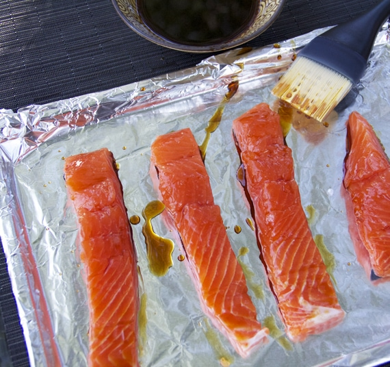 salmon for salmon teriyaki