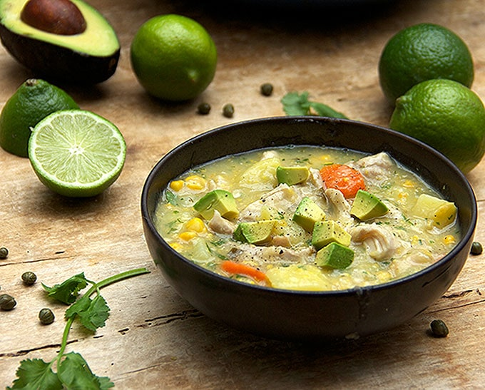 COLOMBIAN CHICKEN SOUP: AJIACO • Panning The Globe