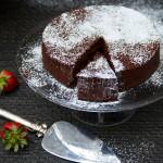 Flourless Bittersweet Chocolate Truffle Cake