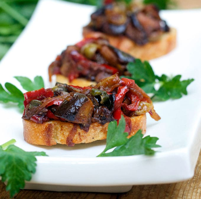 Caponata: Sicilian Sweet and Sour Eggplant Relish | Panning The Globe
