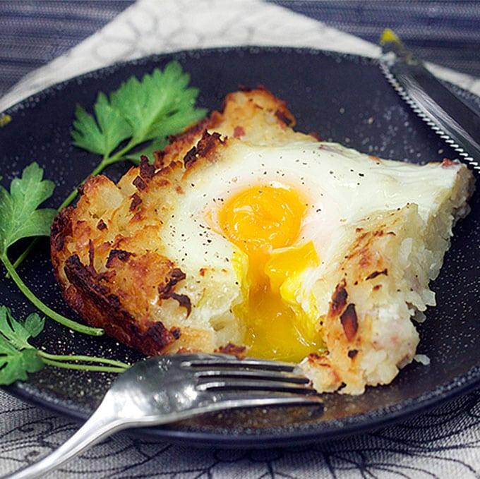 Rosti: Shredded Potato Casserole with Ham and Eggs | Panning The Globe