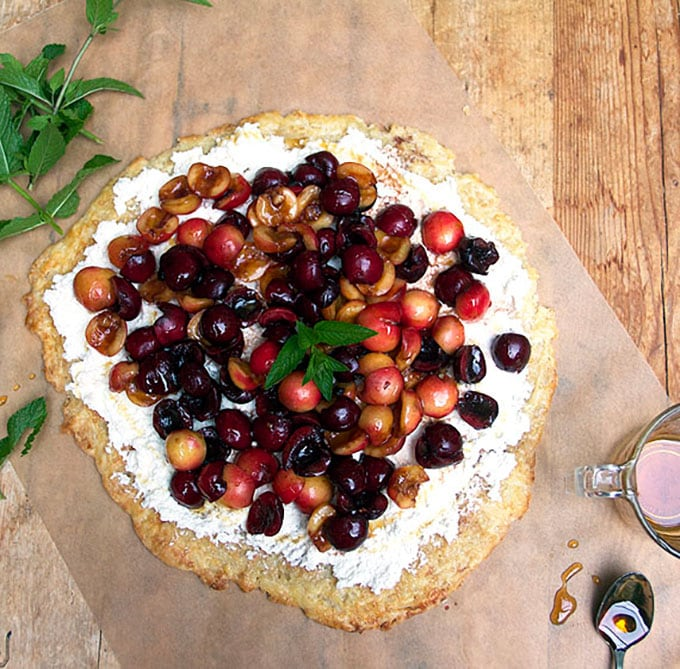 Fresh Cherry Tart | Panning The Globe