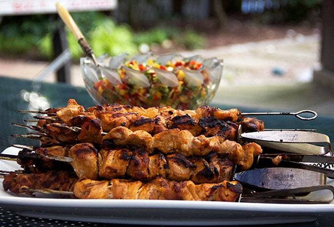 Mexican chicken skewers
