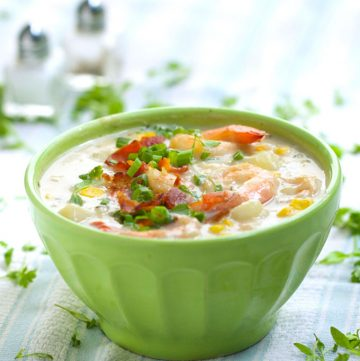 Shrimp and Corn Chowder by Panning The Globe