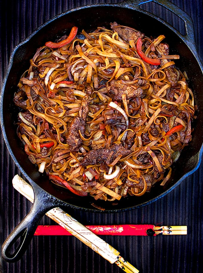 Chinese Ho Fun Noodles or Beef Chow Fun
