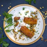 Honey Roasted Pineapple with Yogurt and Pistachios