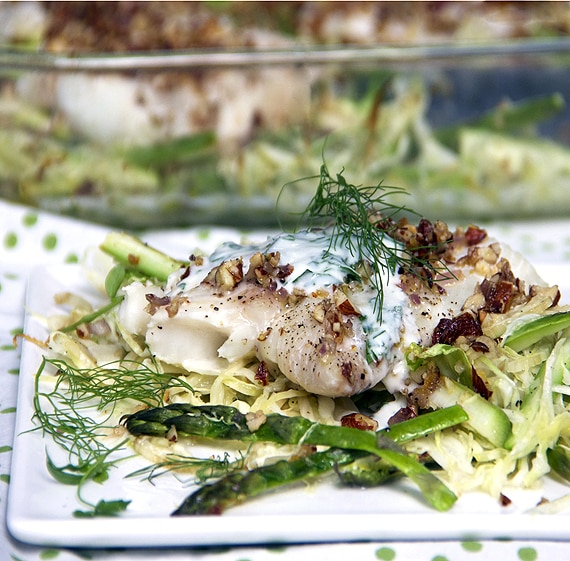 haddock with shredded vegetables by panning the globe